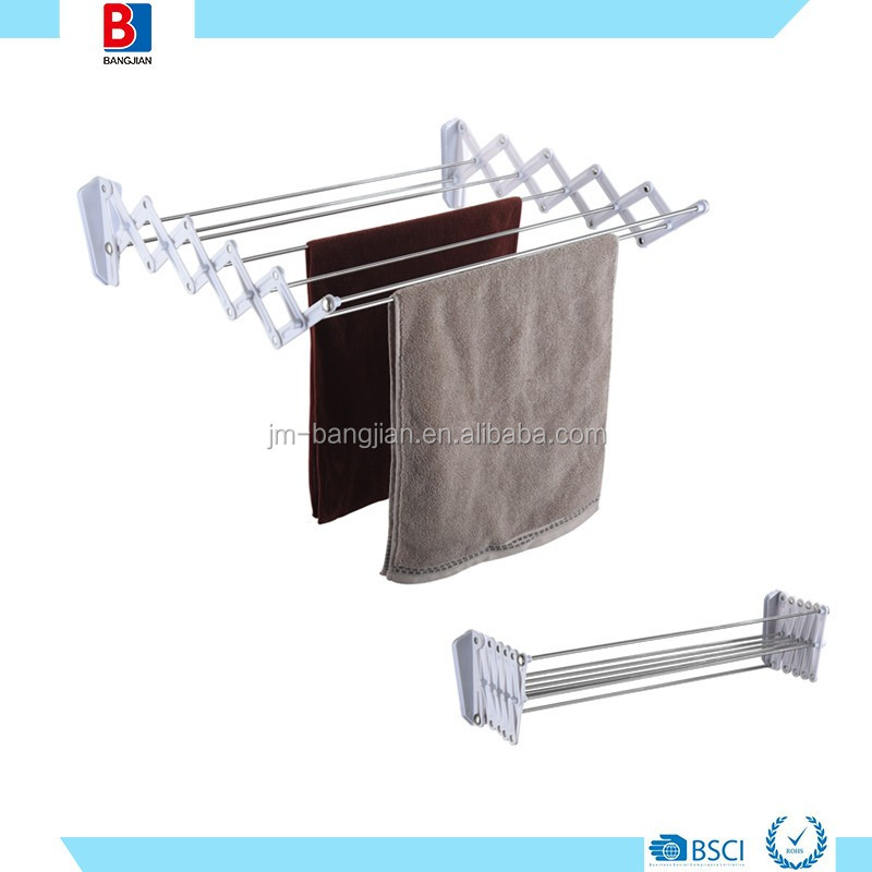 7M BATHROOM ABS AND STAINLESS STEEL WALL MOUNT ACCORDION DRYING RACK