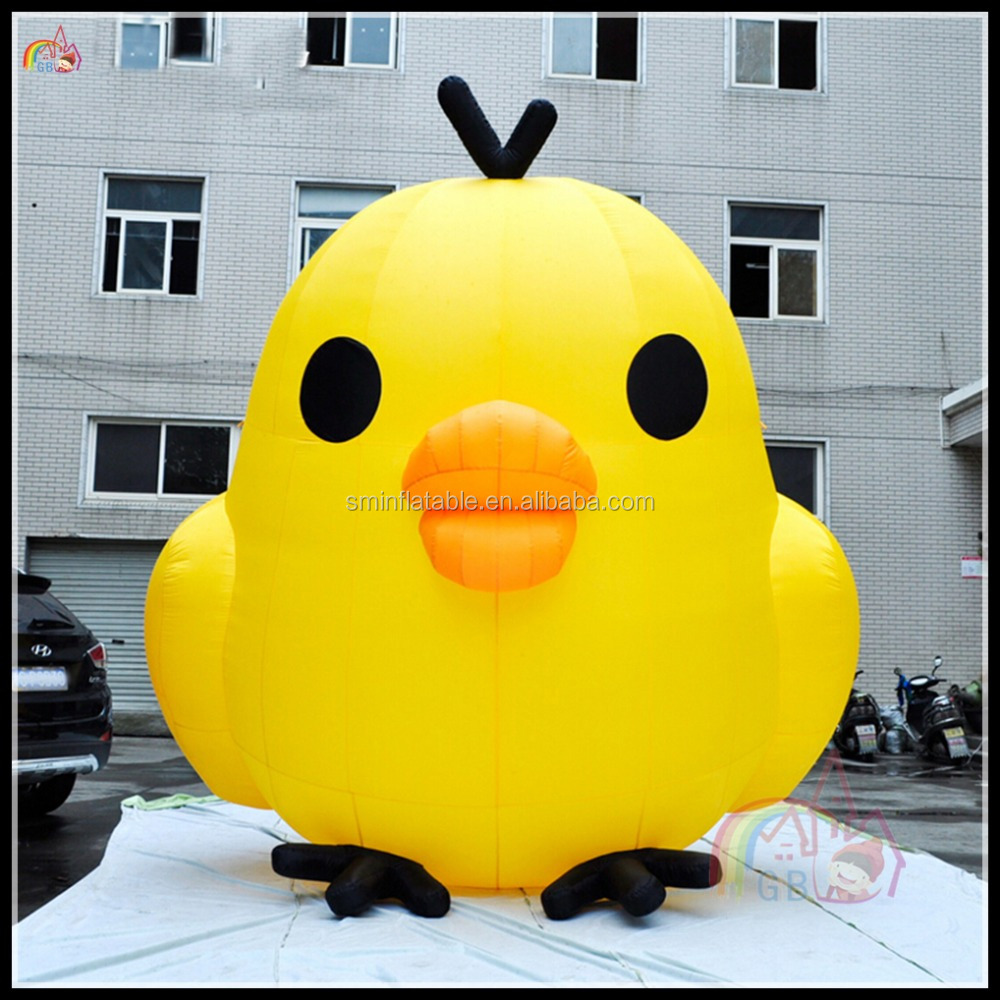 Best Price Custom Inflatable Cartoon Chicken Outdoor Advertising Promotional Chicken For Sale