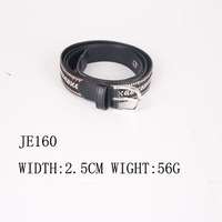 2015 wholesale fashion men leather jean belt with finger patten