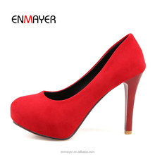 Wholesale red platform pumps 10cm women high heel shoes