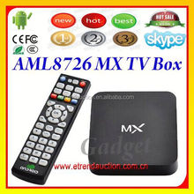 AML8726 Boxchip A10S,1.0-1.1GHz,MX 4.2 max smart TV Box Arabic TV Channels