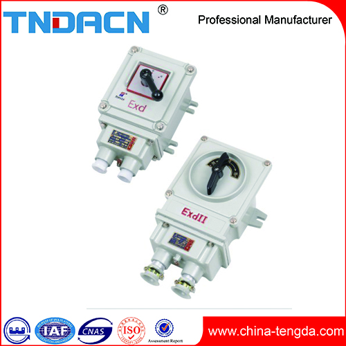 BQXN China High Quality Outdoor Indoor aluminum alloy Explosion Proof Reversible Switch