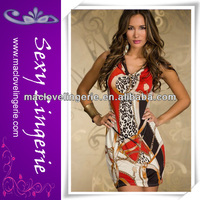 ML17862 Latest Elegant Beautiful Print Lady Formal Dress Sexy One Piece Girls Party Dresses
