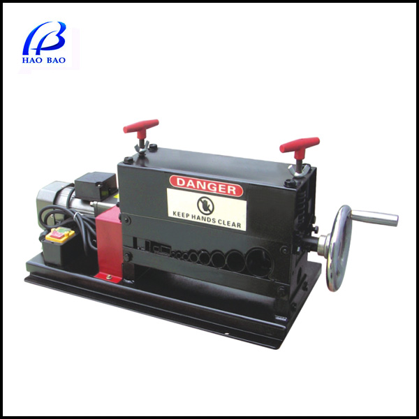 HW-38 Manual & Electric Double Used Cable Stripper Machine Hot Sale Enamel Wire Stripping Machine 1-38mm Stripping Range
