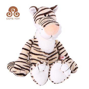 wholesale custom stuffed animal soft toy plush tiger for promotion