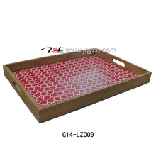 factory price bamboo tray sets/tea tray with FDA, LFGB certificate