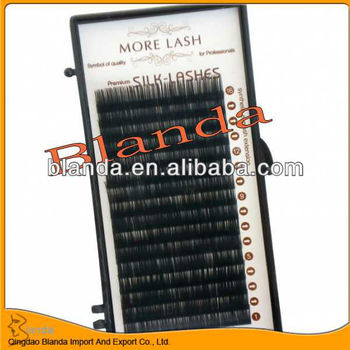 2013 NEWEST !!! natural color top quality real individual eyelash extension FOR SALE