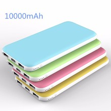 High capacity double USB port mobile power 10000mah