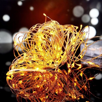 Christmas lights! 10m 100leds Copper wire solar string led light wedding party holiday decoration