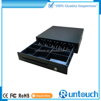 Runtouch RT-C410C Start here hot sale metal cash box with 5 bill slots 3-gear lock cash storage box