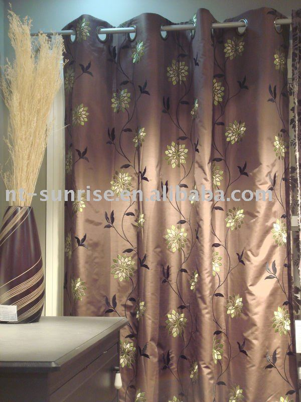 embroidery window curtain