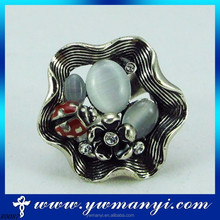 Fashion r cluster flower shaped red beatles ring passion ring R87