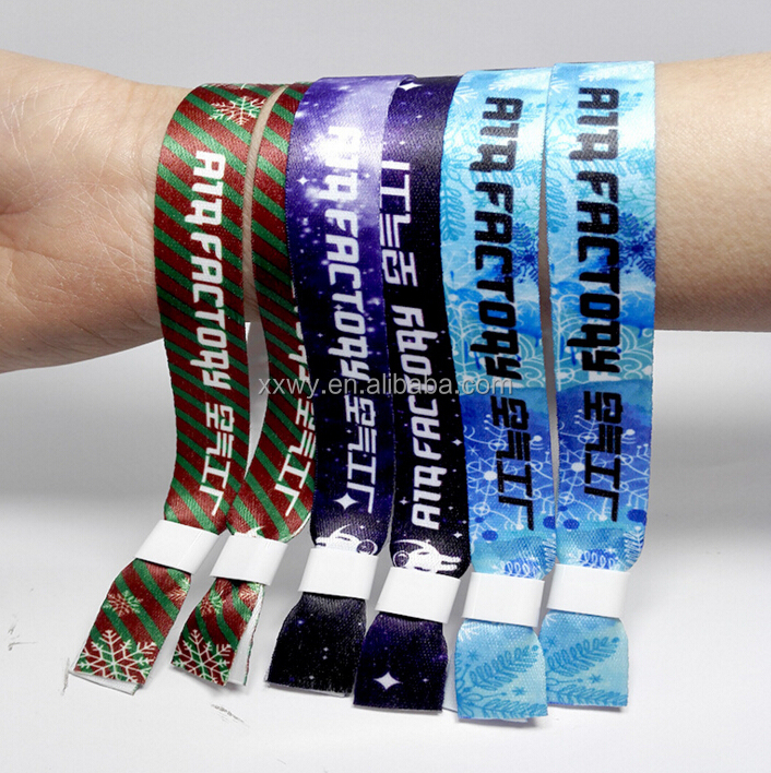 Event Woven Polyester Fabric Wristband/bracelet