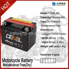 high quality Ytx4l-bs Motorcycle Battery
