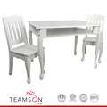 Teamson Kids - Windsor Rectangular Table & Set of 2 Chairs - White