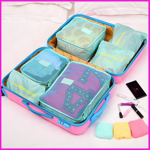 Fashion colorful oxford fabric travel bag,Functional travel bag with packing Cubes-6pcs small/med set