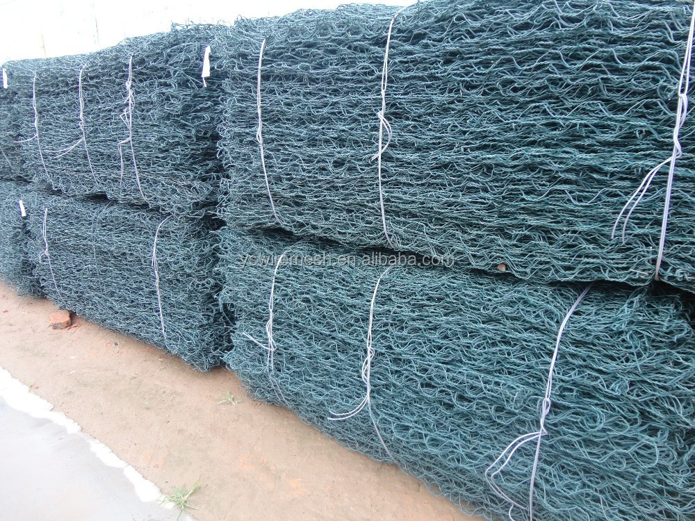 Galvanized Gabion Boxes/PVC coated Gabion Baskets/stone cage