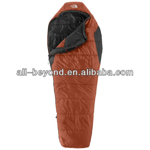 Orange color nylon camping adult sleeping bag (RSA1211)
