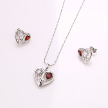 62244-Xuping Wholesale Fine Jewelry Heart-shape Woman Jewelry Set