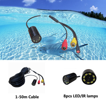 90deg 520tvl hd mini underwater lucky fish finder camera 50m cable with led/ir