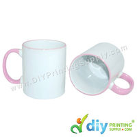 Colour Mug (Outer Pink) for Mug Printing Business