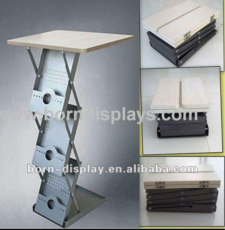 New Style Iron Brochure Holder(with table)/display rack/book rack