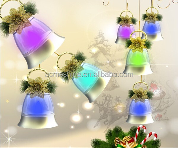 Colorful Christmas Bells Lights Plastic With Music & Flashing,Christmas Led Lights for Decoration