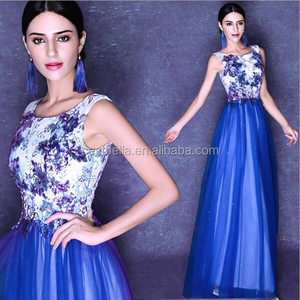 hot sale elegant royal blue long evening dress evening prom dress