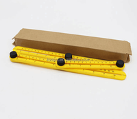 Factory Price Hot Sale Plastic Foldable Ruler Angle-izer Template Tool