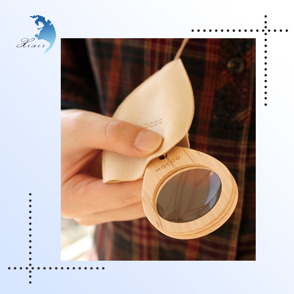 Customized Logo Printed/Carved Promotional/Promotion Small Round Wooden/Wood Decorative Hand Held Magnifying Mirror