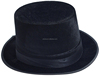 Exquisite design and hot selling black flat top fedora hat HT12770