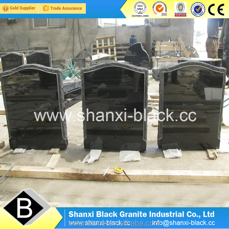 china shanxi black granite uk style polished monuments tombstone memorials