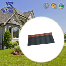 Red color natural stone coated steel roofing tiles with good price