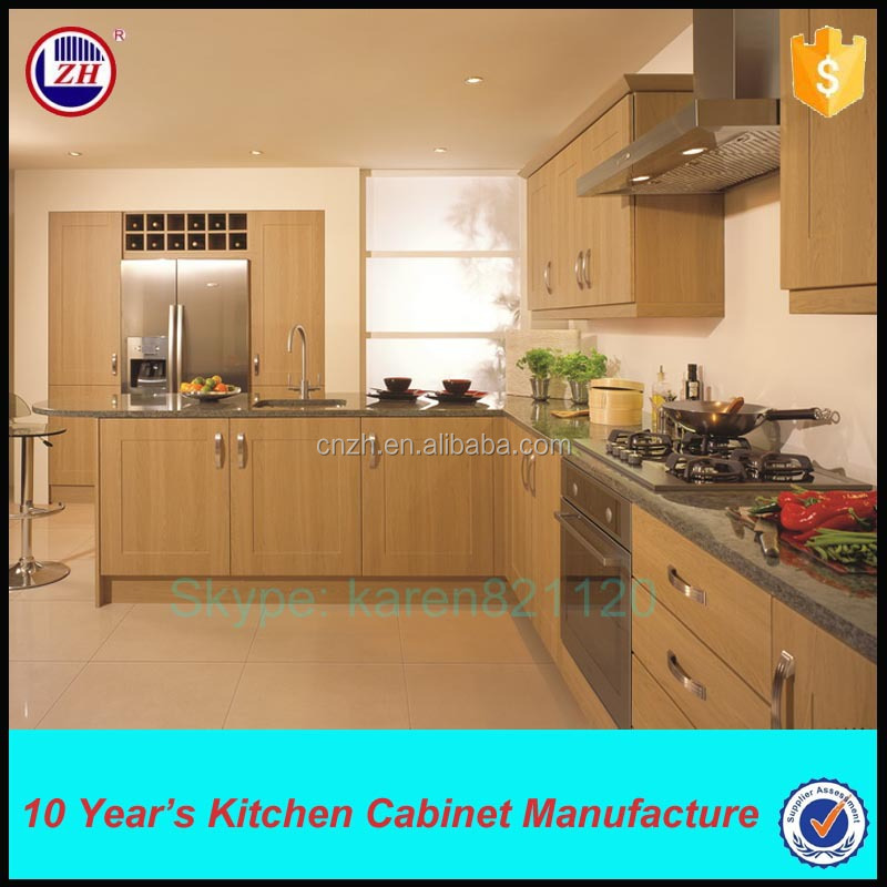 Laminate melamine faced mdf kitchen cabinet with cheap for Laminates for kitchen cabinets