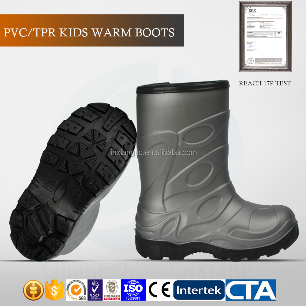 good quality CE standard children rain shoes kids TPR snow boots