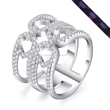 WR0229-Fashion Punk TAT Shape Ring In 925 Sterling Silver with Best Quality Midi Ring