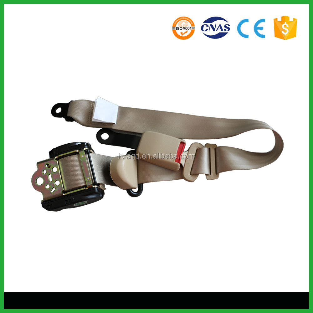 E4 CCC ISO/TS16949 automatic retracting 3 point car safety seat belt