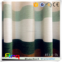 New stripe curtain drape Chenille jacquard fabric for curtain drape/ sofa/cushion