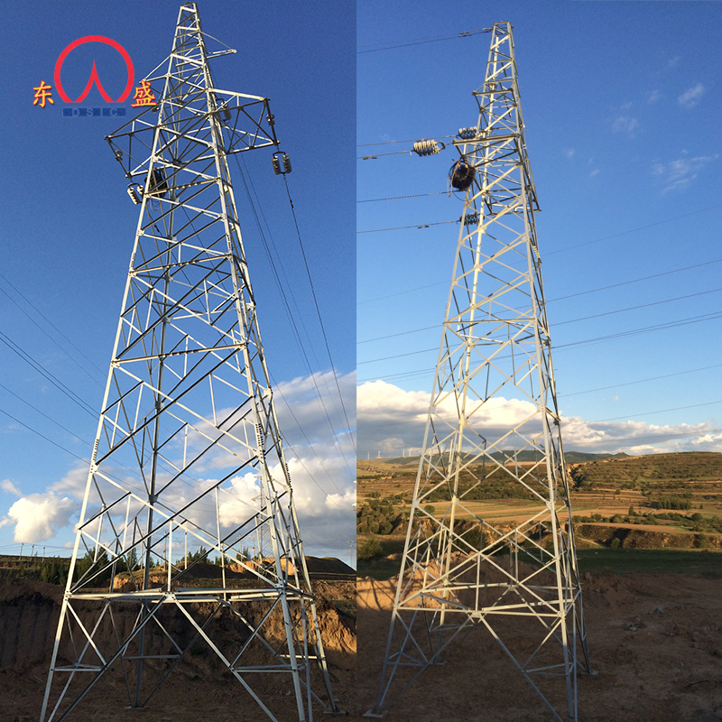 40 meter manufacture 220kv octagon power electric transmission line steel tower