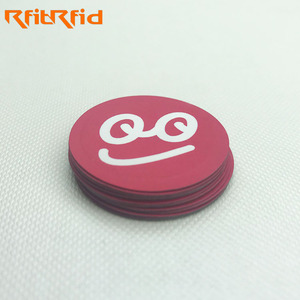 Custom printing programmable rewritable small anti-metal NFC tag