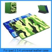 Military Camouflage Camo Tablet Case For ipad 2 ipad 3 ipad 4 universal real leather case