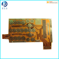 PI Material double sides 1oz copper thickness flexible pcb