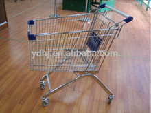 Wholesale high quality stainless steel supermarket shopping trolley/shopping cart 120 liter
