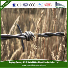 Alibaba china supply barbed wire fence/barbed wire roll price fence/weight barbed wire (factory & exporter)