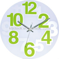 Large Plastic Domes Wall Clock Green