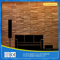 Black walnut & maple decorative wall panel for interior room