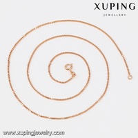 Promotional Hot Sales Rose Gold Necklace Cheap Gold Plated Chains