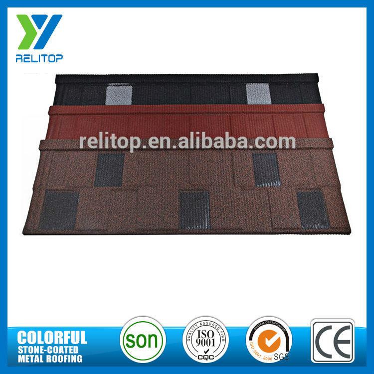 Stone coated roofing shingles/sand metal roofing tile