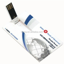 Custom logo credit card shape usb drive