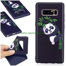 3D Relief Custom Cartoon Painted Tpu Protective shockproof case for Samsung Galaxy Note8
